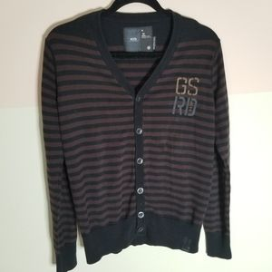 G-Star Raw Striped Brown & Black Cardigan-sz.M